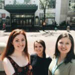 Interns outside the Hilbert Circle Theatre