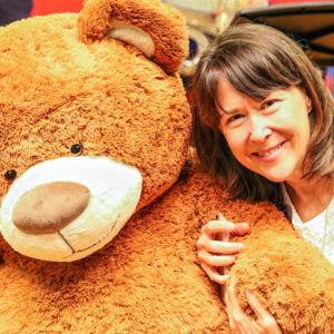Vicki with teddy bear